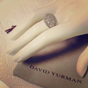 David yurman pave diamonds ring with 18kw